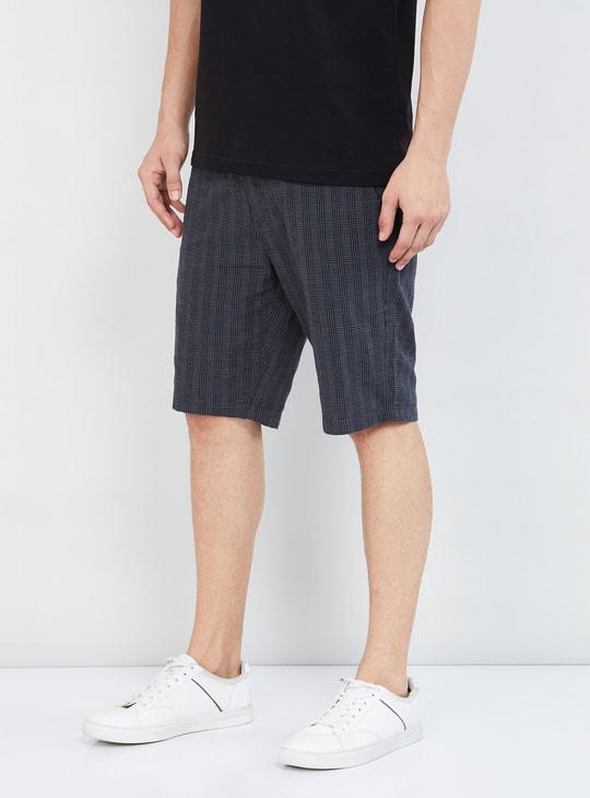 MAX Checked Regular Fit City Shorts