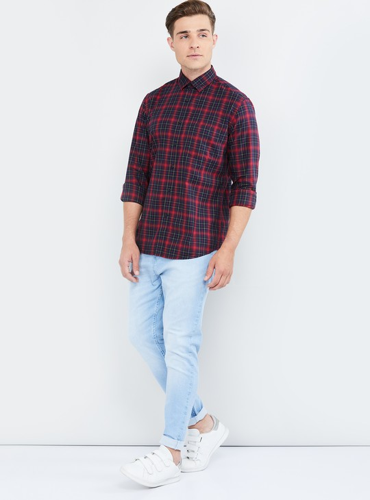 MAX Checked Full Sleeves Casual Slim Fit Shirt