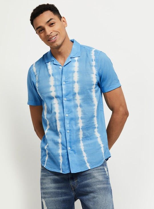 MAX Ombre Pattern Slim Fit Casual Shirt