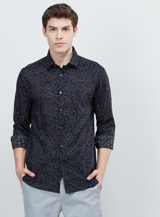 MAX Paisley Print Full Sleeves Slim Fit Casual Shirt