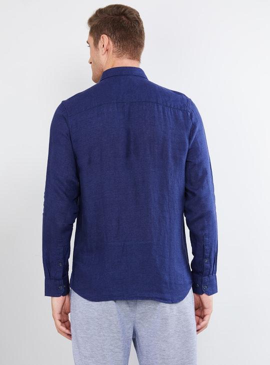 MAX Textured Linen Casual Slim Fit Shirt