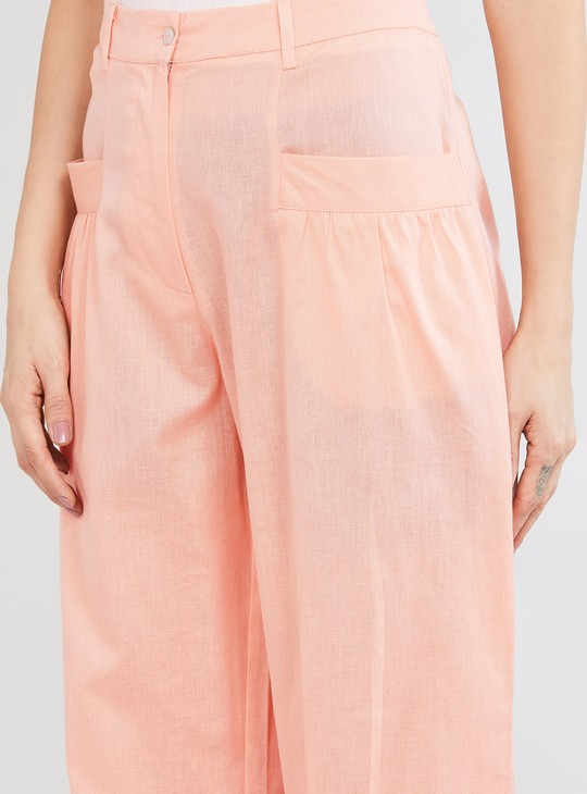 MAX Solid Cropped Woven Pants