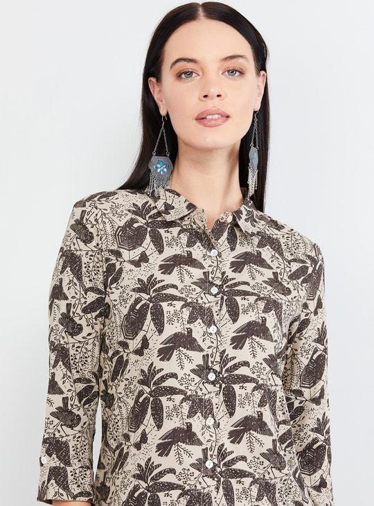 MAX Tropical Print Short Sleeves Shirt