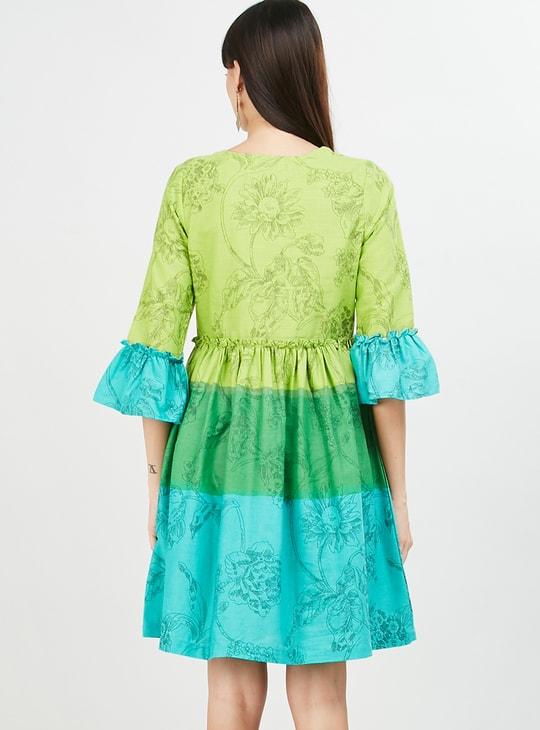 MAX Printed A-line Dress