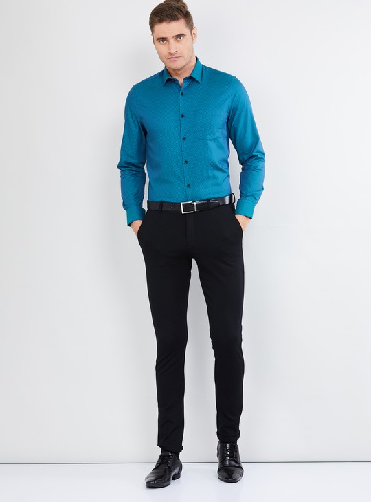 MAX Patterned Weave Slim Fit Formal Shirt