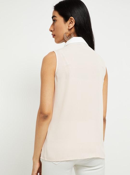 MAX Solid Sleeveless Shirt