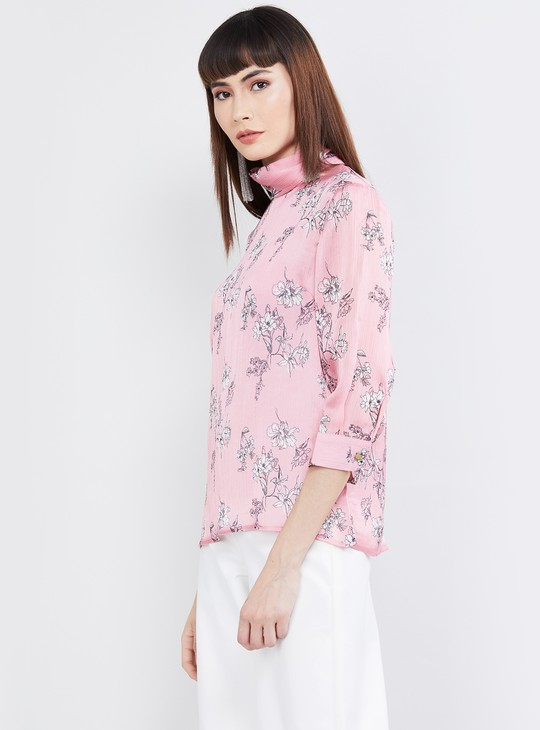 MAX Printed High-Neck Top