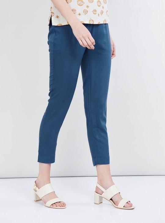 MAX Solid Calf Length Pants