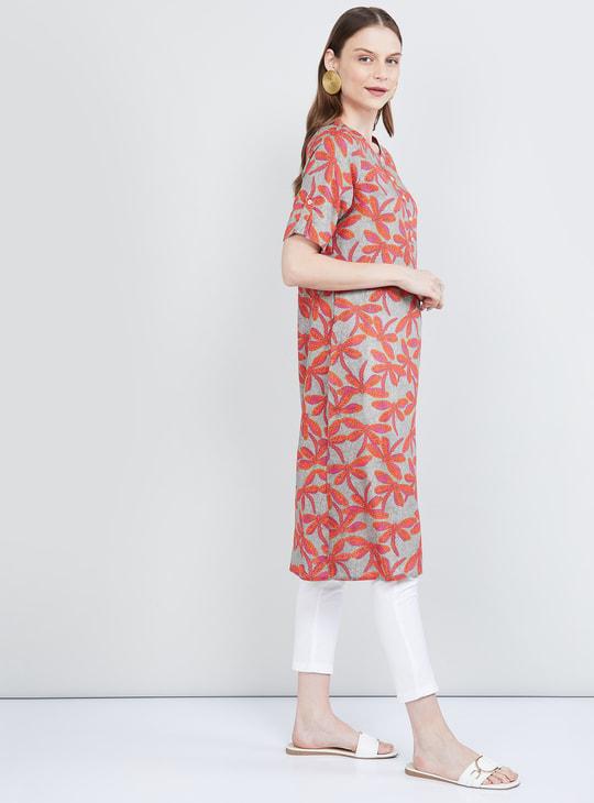 MAX Floral Print Short Sleeves Kurta