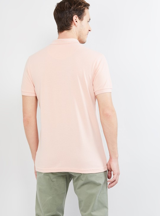 MAX Patch Print Slim Fit Polo T-shirt