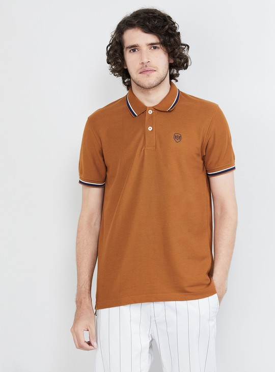 MAX Textured Short Sleeves Regular Fit Polo T-shirt