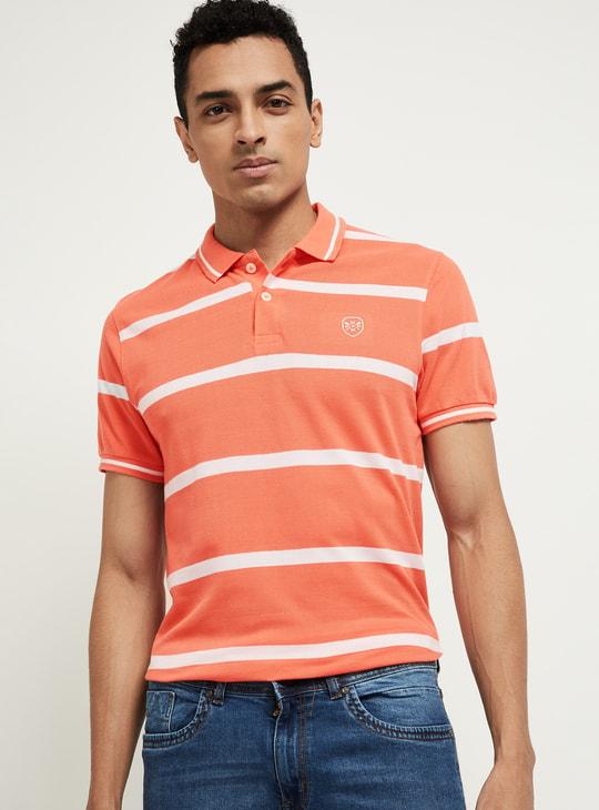 MAX Striped Short Sleeves Polo T-shirt