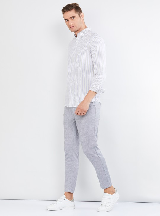 MAX Striped Cotton Casual Shirt