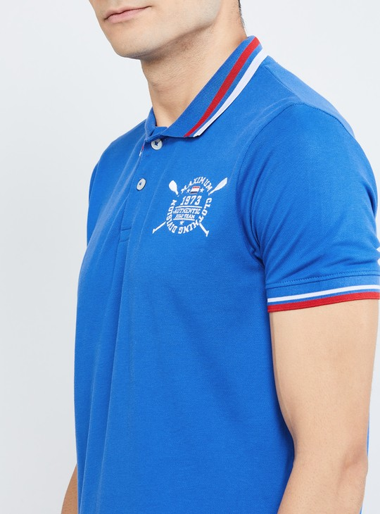 MAX Printed Regular Fit Polo T-shirt