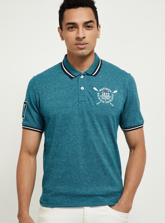 MAX Heathered Polo T-shirt