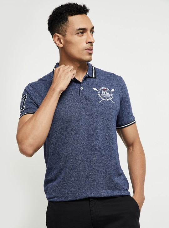 MAX Textured Short Sleeves Polo T-shirt
