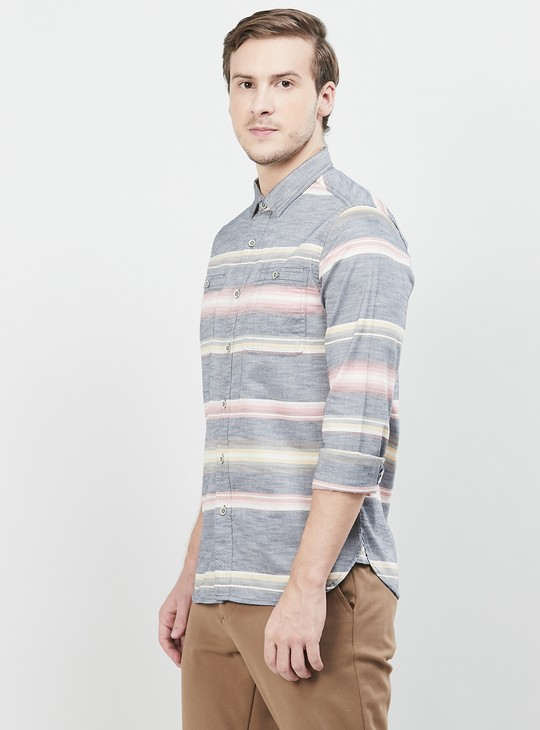 MAX Striped Full Sleeves Regular Fit Casual Shirt