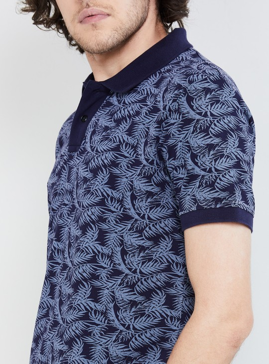 MAX Tropical Print Short Sleeves Slim Fit Polo T-shirt