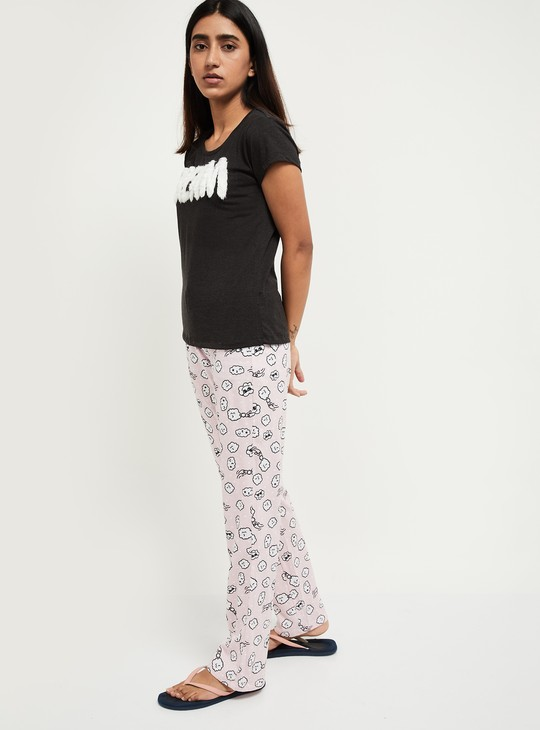 MAX Lounge T-shirt with Printed Pyjama Pants