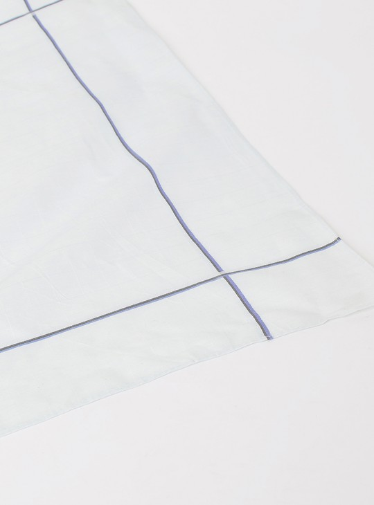 MAX Solid Handkerchief with Border Detail- Set of 3