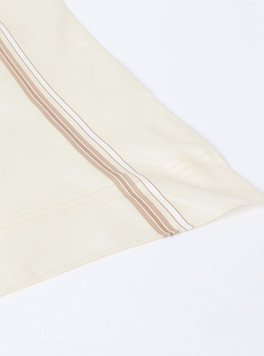 MAX Solid Handkerchief with Border Detail- Set of 7