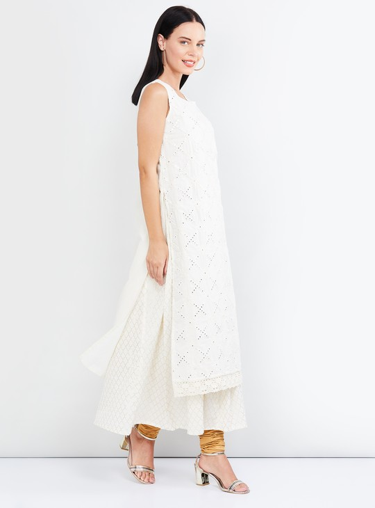 MAX Schiffli Detailed Layered Kurta