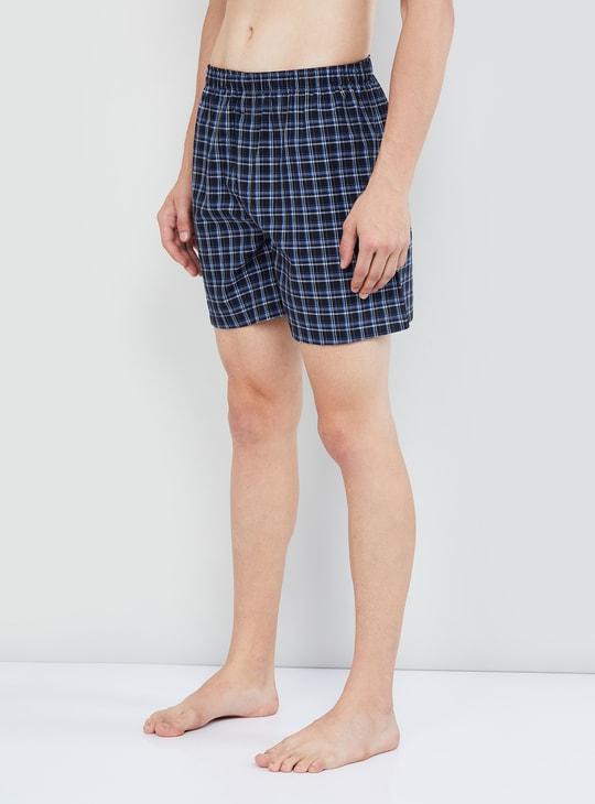 MAX Checked Elasticated Boxer Shorts