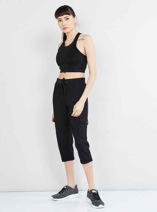 MAX Textured Capris with Upturned Hems