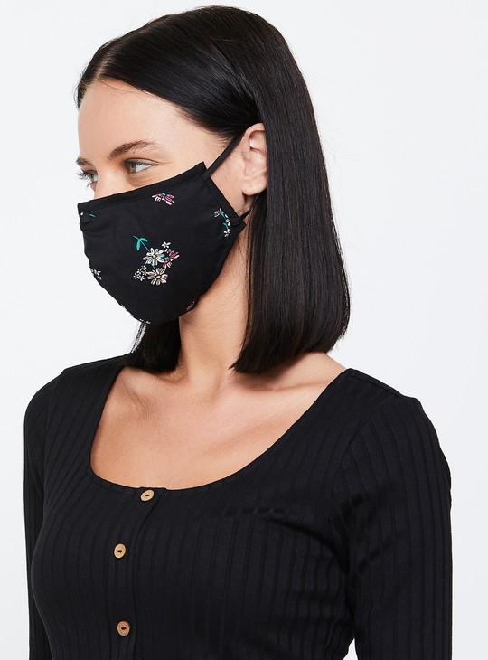 MAX Women Printed Face Mask - Pack of 3