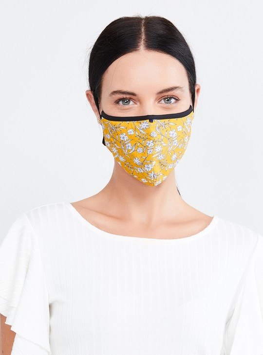 MAX Printed Women Face Mask - Set of 3