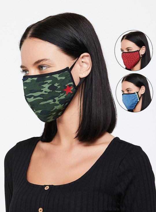 MAX Women Textured Face Mask - Pack of 3