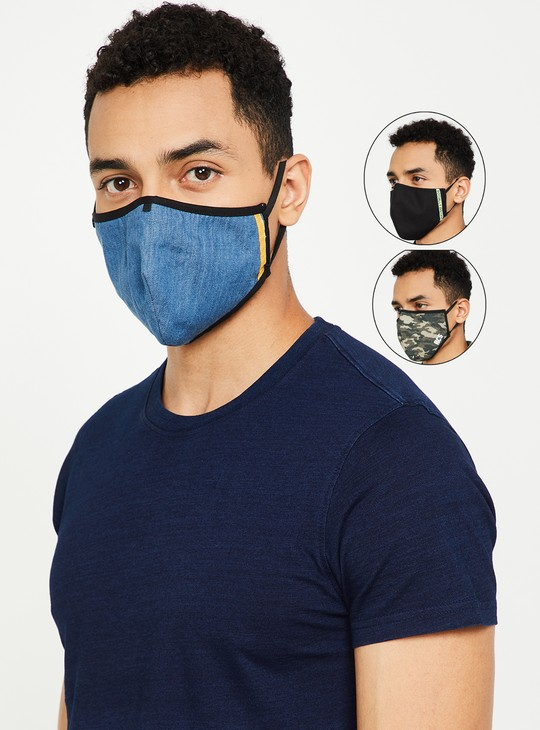 MAX Men Assorted 3-Layered Masks- Pack of 3