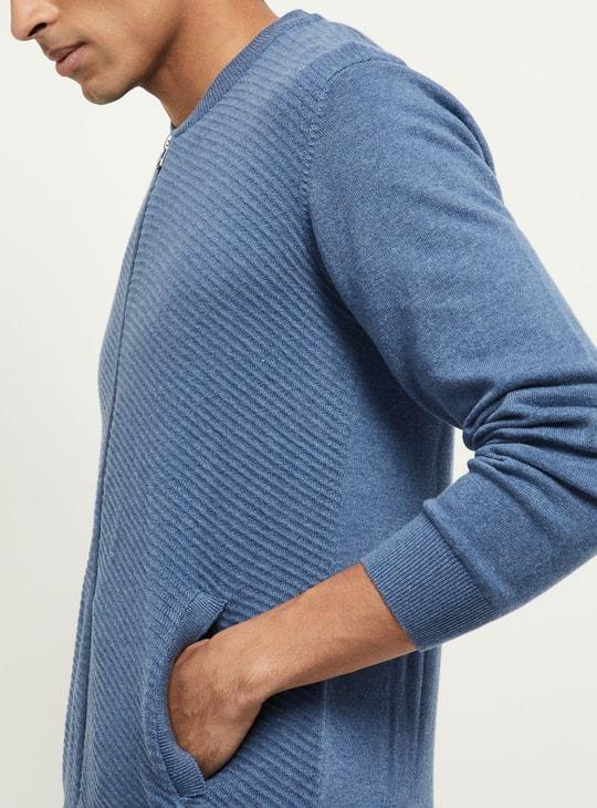 MAX Solid Zipper Sweater
