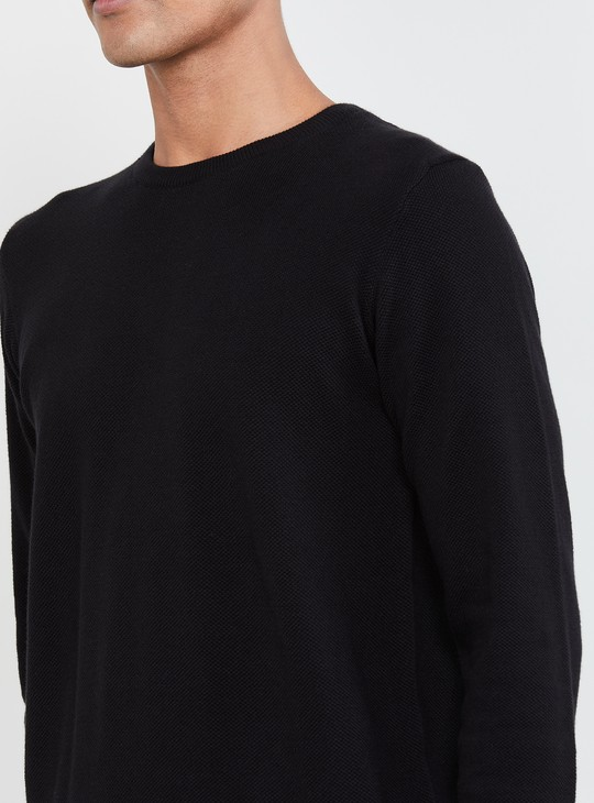 MAX Solid Crew Neck Sweater