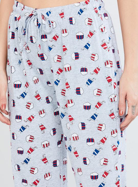 MAX Printed Pyjamas with Drawstring Waist