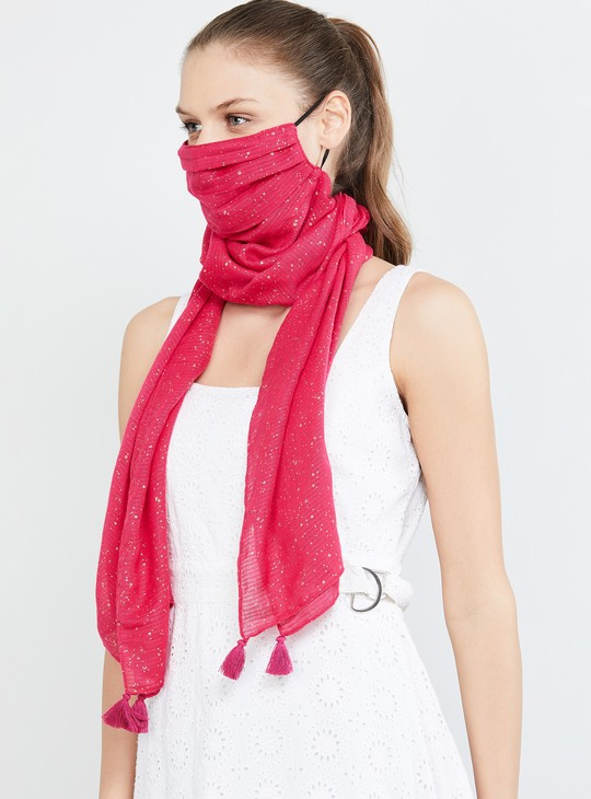 MAX Floral Print Scarf Mask