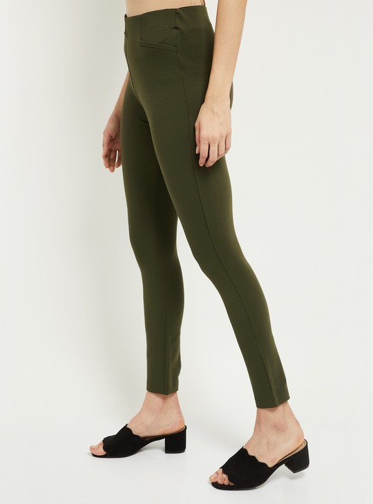 MAX Solid Elasticated Waist Skinny Fit Treggings