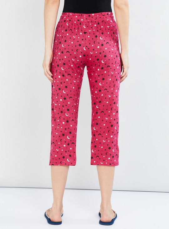 MAX Printed Knitted Lounge Capris