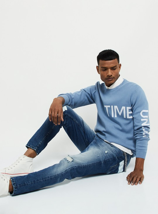 MAX Patterned Flat-Knit T-shirt
