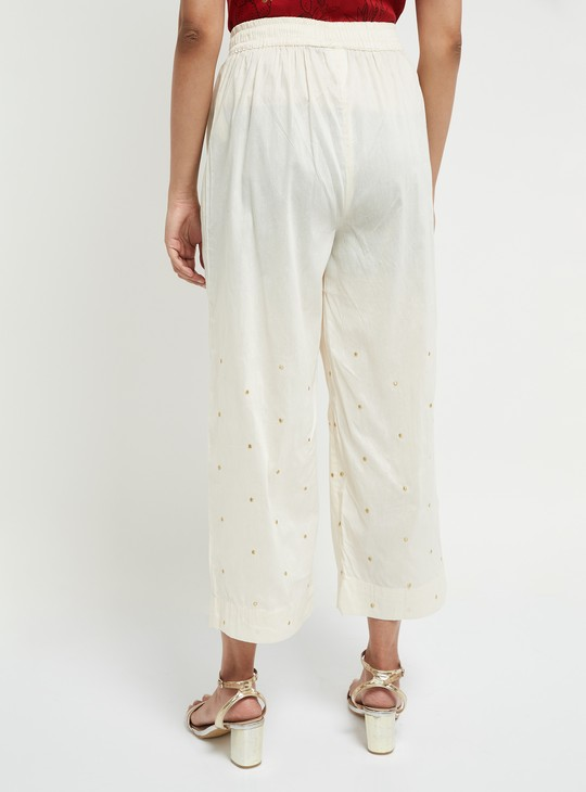 MAX Embroidered Culottes with Drawstring Waist