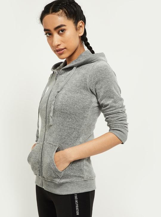 MAX Textured Zip-Front Hooded Jacket