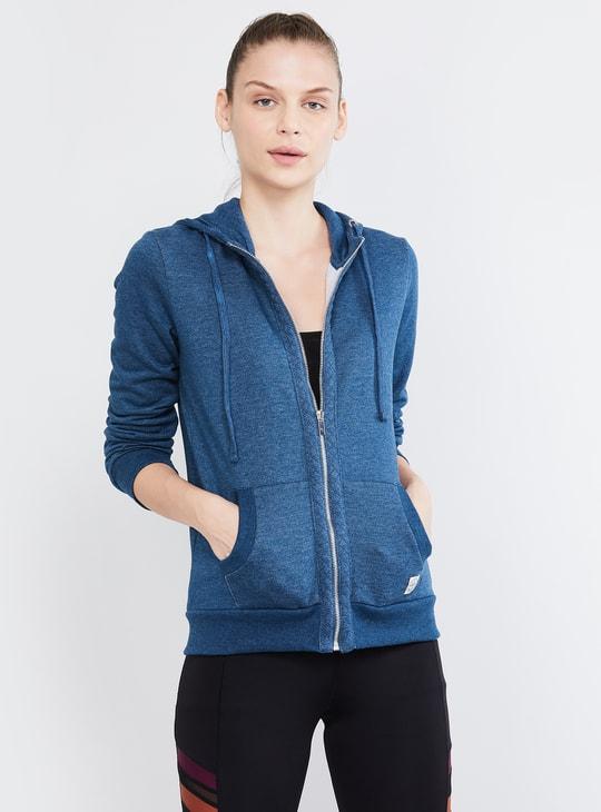 MAX Textured Full Sleeves Hooded Jacket