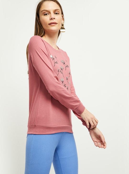 MAX Floral Print Full Sleeves T-shirt
