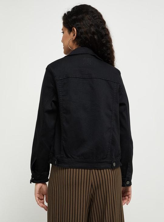 MAX Solid Denim Jacket