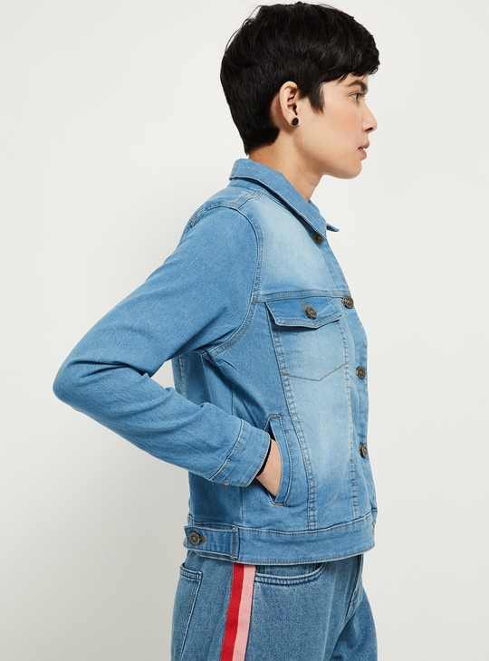 MAX Stonewashed Denim Jacket