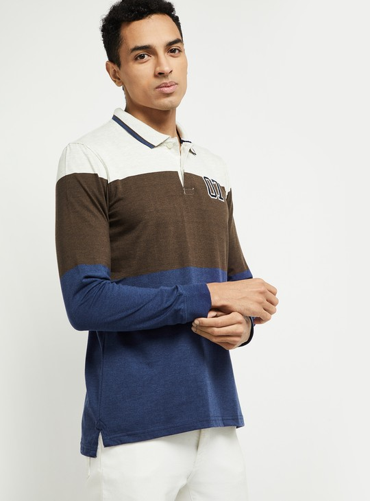 MAX Colorblocked Slim Fit Polo T-shirt