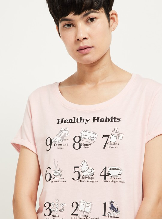 MAX Lounge T-shirt with Printed Pyjama Pants