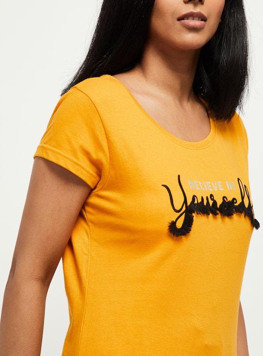 MAX Printed T-shirt and Elasticated Capris