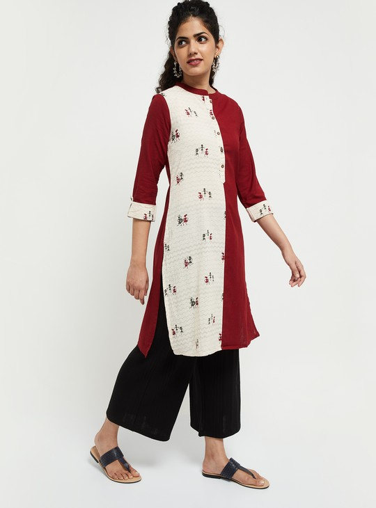 MAX Colorblocked Straight Kurta