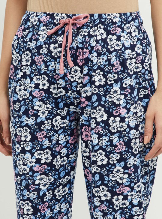 MAX Printed Lounge Capris with T-shirt